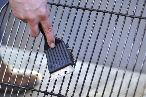 Pulire bene la griglia dai residui carbonizzati