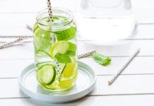 Acqua, cetriolo, limone e zenzero