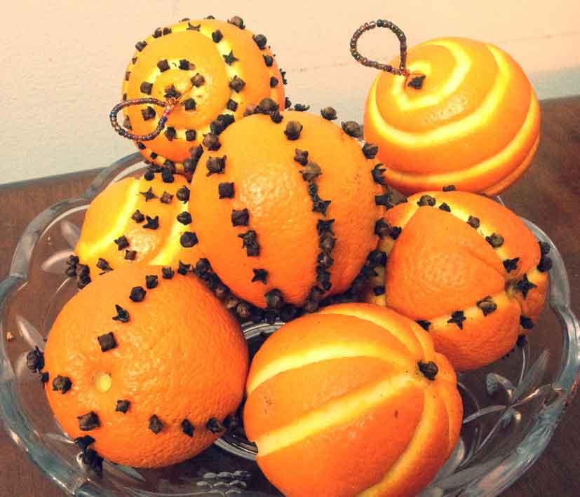 arancia per profumare l'ambiente