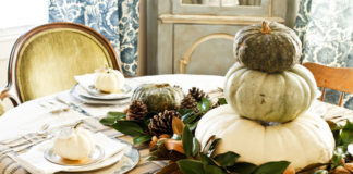 Decorare la casa con zucche ornamentali
