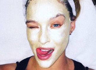 Maschera di fango per il viso