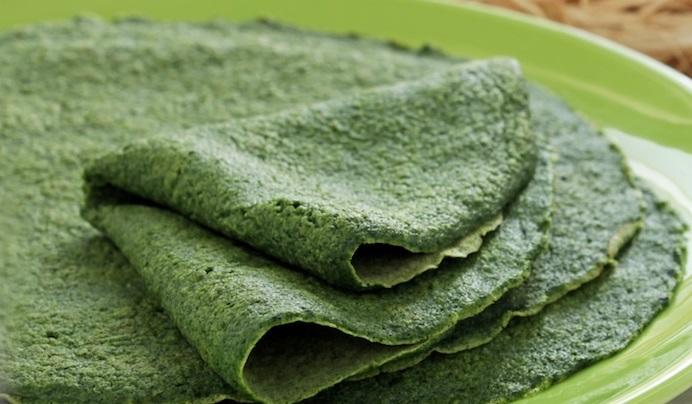 crepes vegetariane agli spinaci
