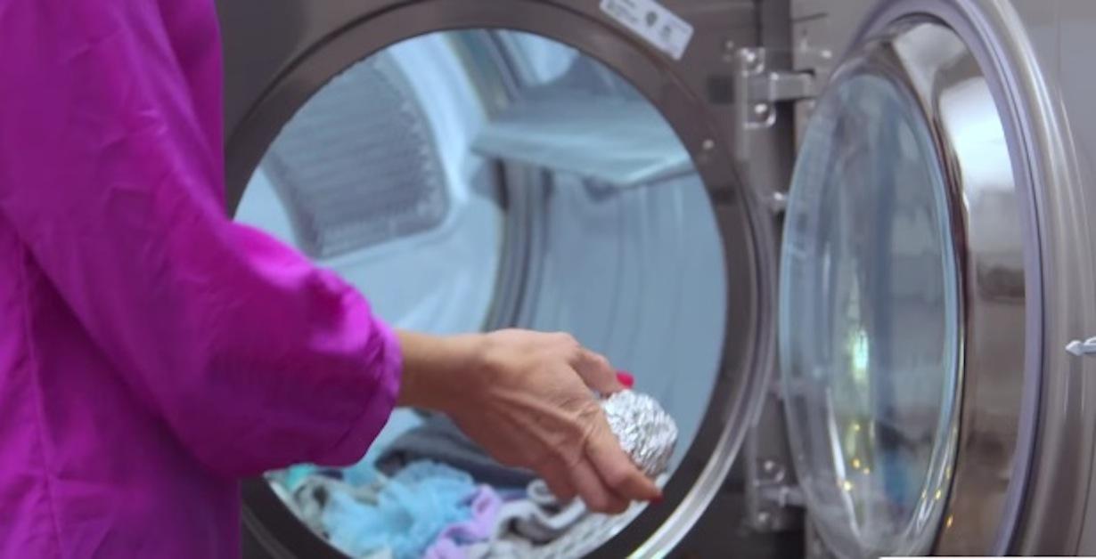 Pallina di alluminio nella lavatrice