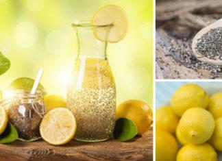 Semi di chia e limone, una tisana per la salute dell'intestino
