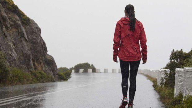 correre con freddo e pioggia