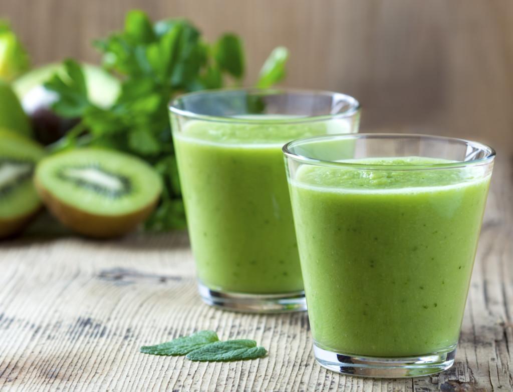 Frullato di kiwi ricco di vitamina c