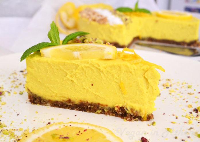 Torta al limone vegana