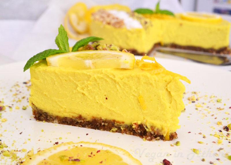 Torta al limone vegan con crema (senza latte né uova) , Benessere,  Alimentazione Sana, Prodotti Bio e Rimedi Naturali