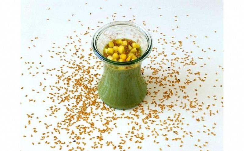 semi di lino tritati in bevanda