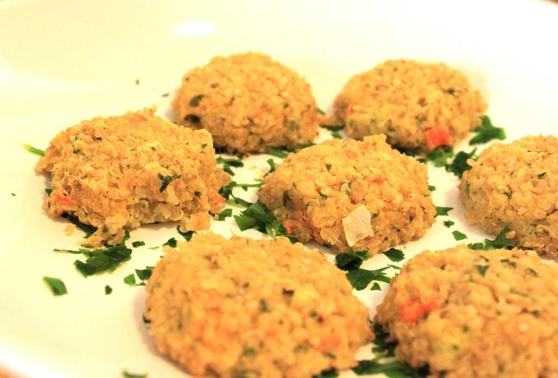 Polpette lenticchie e quinoa