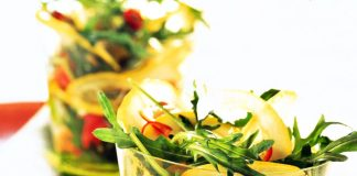 Insalata rucola, zenzero e limone