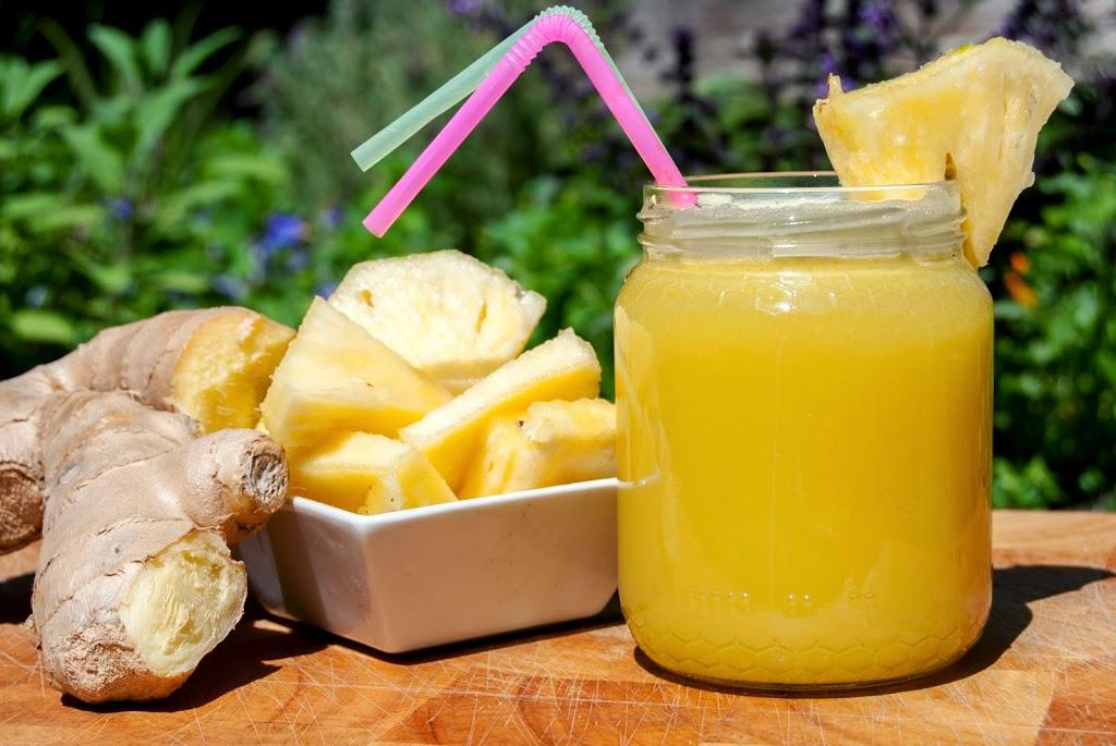 smoothie ananas e zenzero
