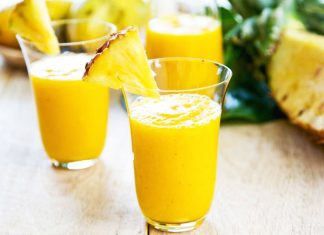 Smoothie detox e drenante all'ananas, zenzero e curcuma