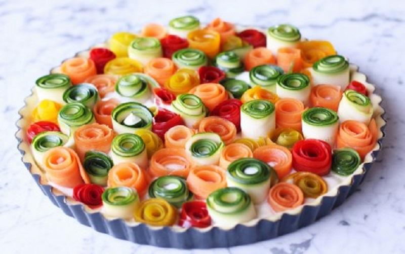 torta salata di verdure vegan