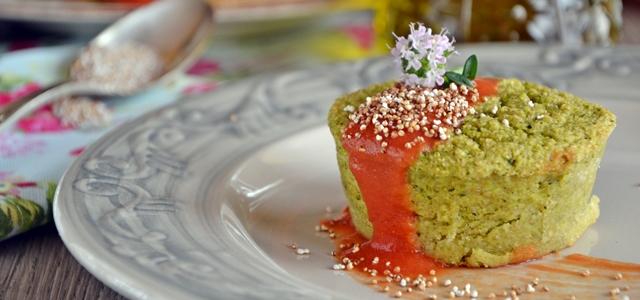 Muffin amaranto e verdure