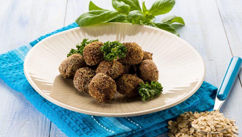 secondo piatto con avena e verdure