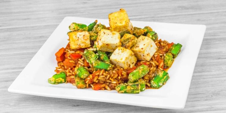 tofu condito con salse