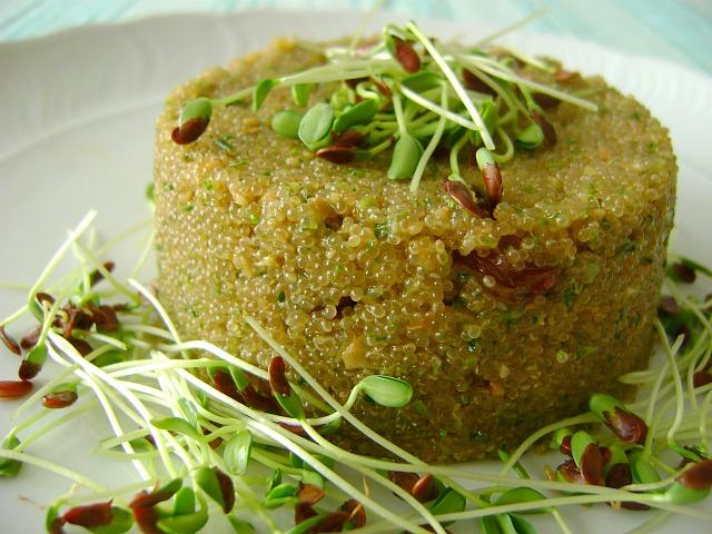 Tortino di amaranto e spinaci, proteico e senza glutine