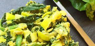 Uova strapazzate agli spinaci