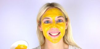 Maschera viso fai da te alla curcuma