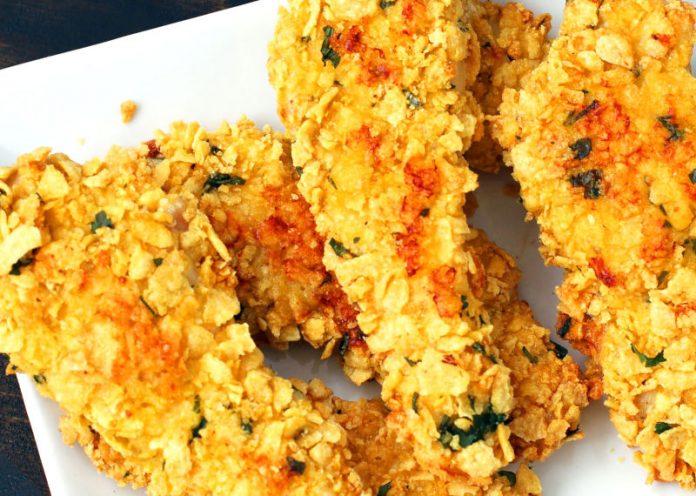 Nuggets di pollo con panatura di cornflakes (senza glutine)