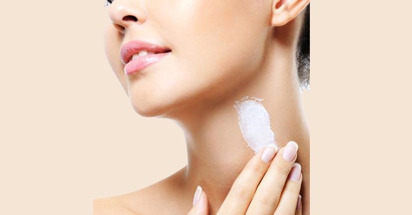 burro di karitè per la pelle del collo