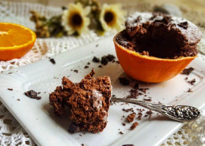 Muffin cioccolato e arancia senza burro e senza pirottini