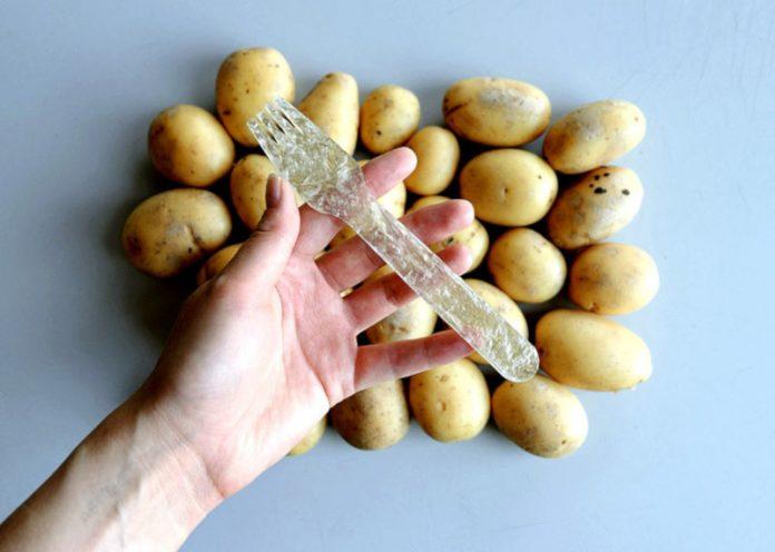 Plastica di patate: 100% biodegradabile e anche commestibile