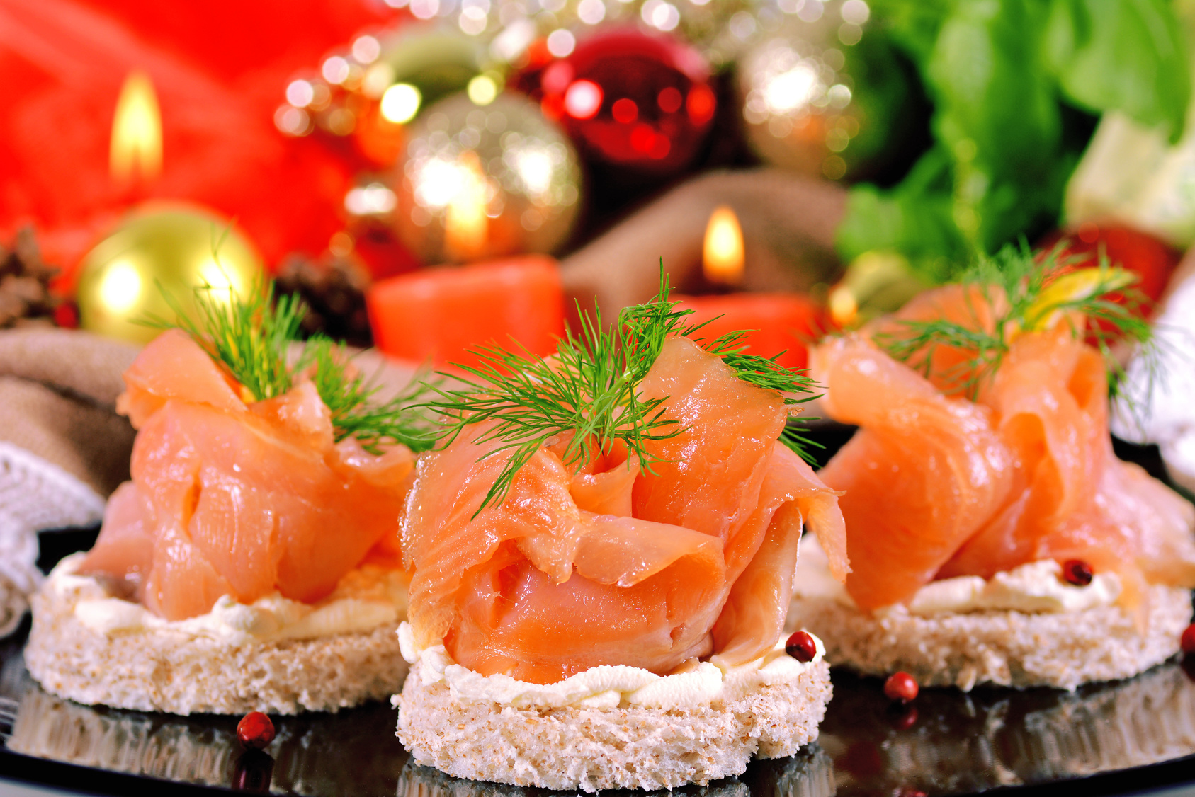 salmone affumicato a Natale