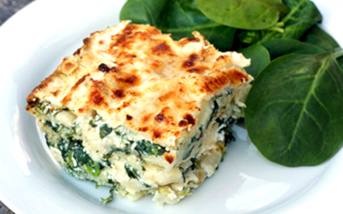 lasagne vegetariane con pane azzimo