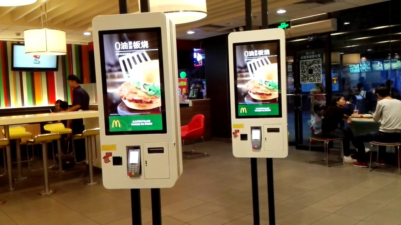 i touchscreen installati nei Mc DOnald's