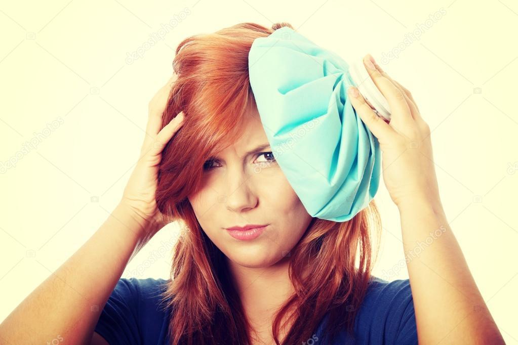 Borsa ghiaccio per attenuare mal di testa