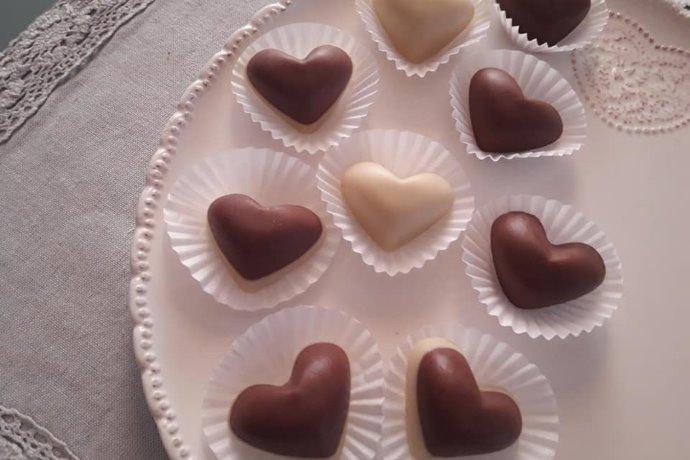 saponette fatte in case a forma di cioccolatino