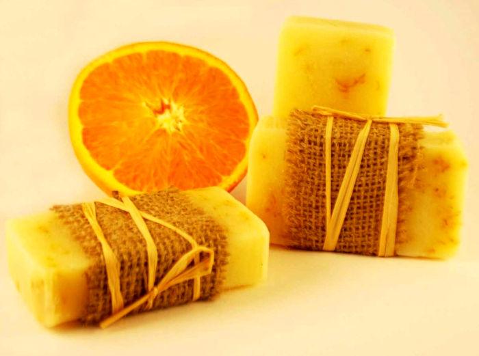 saponette fai da te arancia e cannella