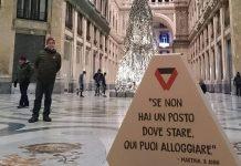 "Una casa di cartone per i clochard; a Napoli arriva ""Scorz"""