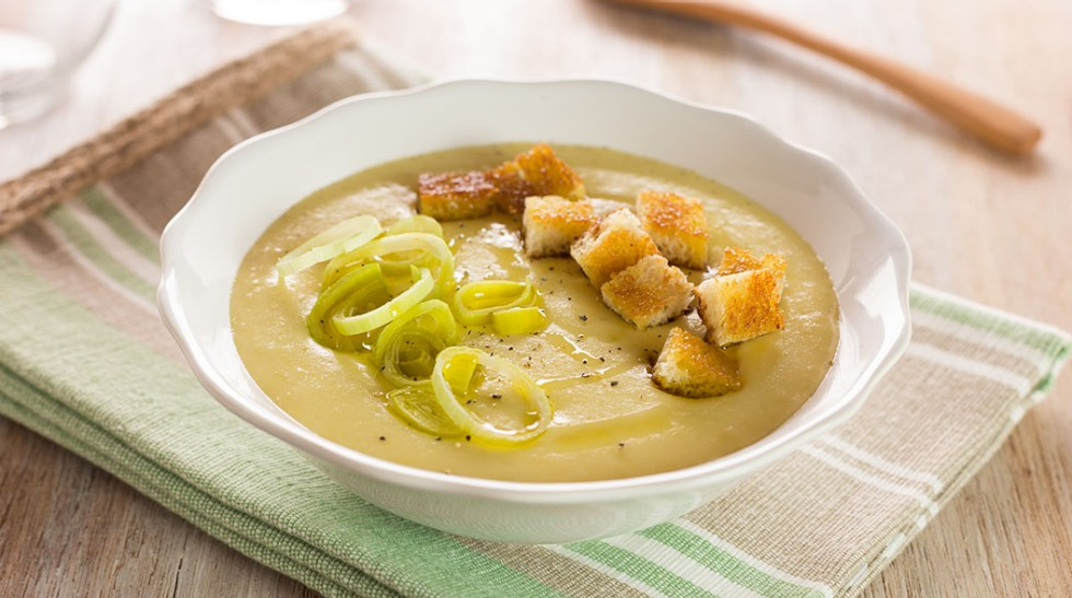 zuppa, vellutata di porri