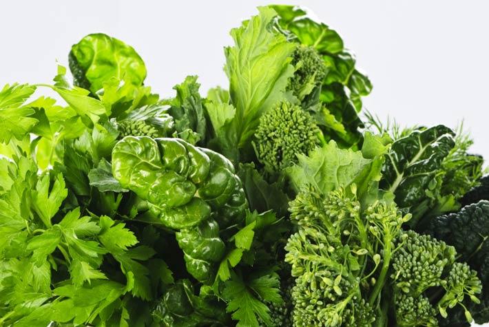 verdura a foglia verde, spinaci