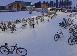 Sane abitudini: in bicicletta a scuola anche a -20°C (accade in Finlandia)