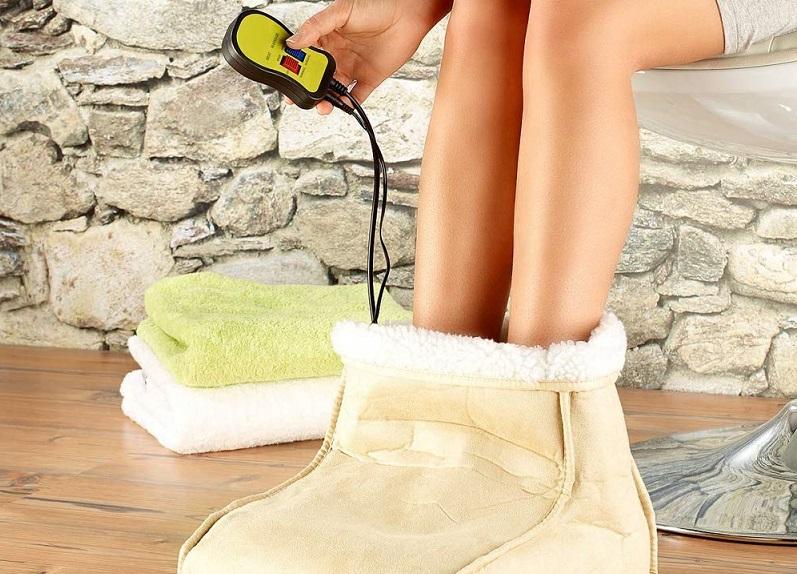 pantofole calde con massaggio incluso