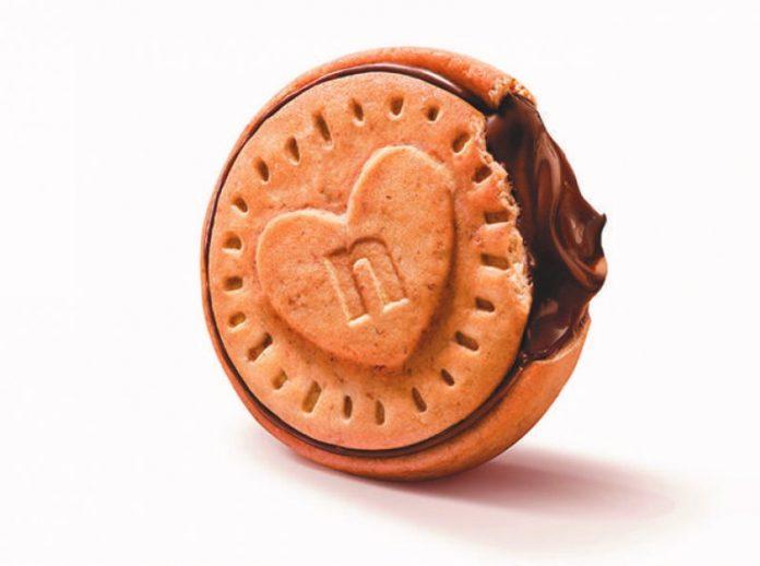 nuovo biscotto Ferrero con la nutella